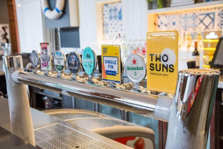 the asbhy bar & bistro beer taps