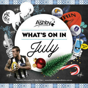 whats on in july the ashby bar & bistro