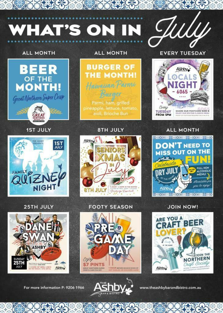 Whats on at The Ashby in July