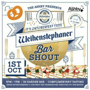 Oktoberfest-Weihenstephaner-Bar shout